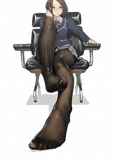President Of The School Board 2 by on DeviantArt Manga Anime, Anime Art, Cartoon Characters, Fictional Characters, 2d Art, These Girls, Long Legs, Yandere, Stockings