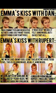 dan vs rupert's kiss ;) totally proves emma likes rupert