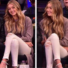 Gigi Hadid #Hair #Blonde #Balayage #Highlitghs