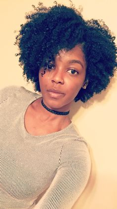 Medium Length Natural, Hair Wash & Go, 2 Years