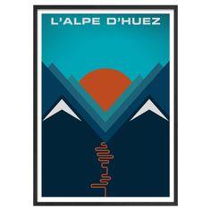 Buy Jeremy Harnell - L'Alpe d'Huez Framed Print, 74 x 53cm Online at johnlewis.com