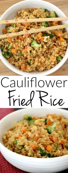 Cauliflower Fried Rice – looks and tastes exactly like fried rice! But SO much healthier for you Loading. Cauliflower Fried Rice – looks and tastes exactly like fried rice! But SO much healthier for you Low Carb Recipes, Vegetarian Recipes, Cooking Recipes, Healthy Recipes, Fried Rice Recipes, Healthy Fried Rice, Veggie Fried Rice, Fried Rice Recipe Chinese, Broccoli Fried Rice