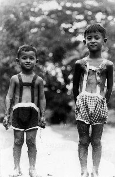 Two young princes later King Rama IX & King Rama Vlll of Thailand.