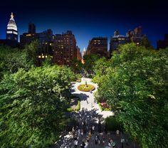 Gramercy Park - dia / noite -Stephen Wilkes