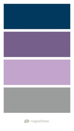 Navy, Custom Gray, Lilac, and Classic Gray Wedding Color Palette - custom color palette created at MagnetStreet.com