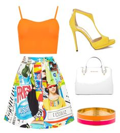 """""""Bright colored"""" by skylak1387 ❤ liked on Polyvore featuring WearAll, Moschino, Michael Kors and Kate Spade"""