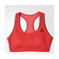 3f0b35f64bcc8 adidas 3-Stripes Racer-Back Bra Red ( 50) ❤ liked on Polyvore featuring  activewear
