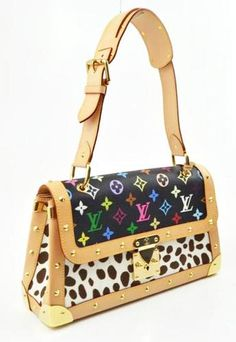 Louis Vuitton Black Multicolor Monogram Pochette Dalmatian Shoulder Bag Handbag