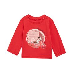 Tee shirt manches longues fille 3 à 24 mois rouge Sergent Major Lacloe 80f6e97a5c2