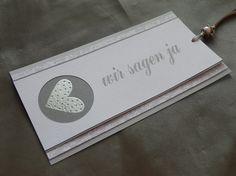"""Einladungskarte ~ """"Wir sagen ja"""" ~"""