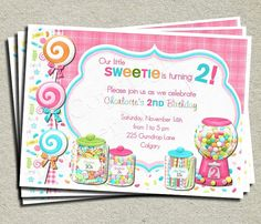 Sweet Shoppe Birthday Invitation  Digital by ForeverYourPrints, $15.00