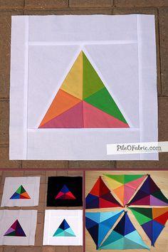Triangle Wheel Block Tutorial by Alissa Lichner.