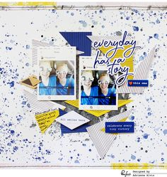 Hello everyone!     I'mso excited to be sharing two layouts that I created using the newest Pinkfresh Studio collection , Indigo Hills! ...
