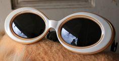Vintage sunglasses- gold and cream $30