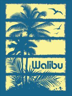 Walibu Vintage Surf T-Shirt Design