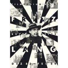 Paul Bruhwiler (designer),  Plakat Filmpodium Zürich, 1983.