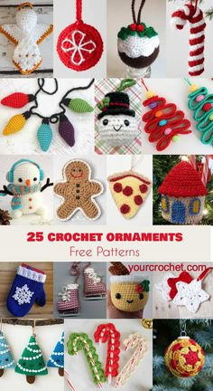 25 Crochet Ornaments [Free Patterns] Follow us for ONLY FREE crocheting patterns for Amigurumi, Toys, Afghans and many more!
