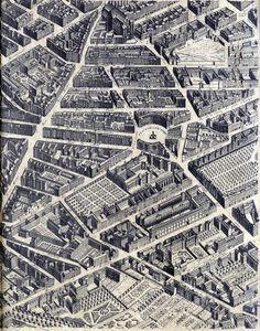 paris from the air 1734, bretez turgot