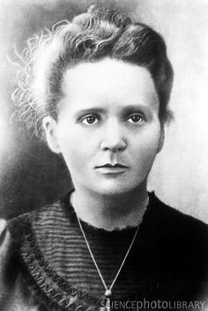 """Marie Curie was a physicist and chemist, and the first person to receive two Nobel prizes. She coined the term """"radioactivity"""", pioneered radiation therapy for cancer, and discovered two new elements. This shot is often cropped to remove Pierre Curie, the famous chemist's husband"""
