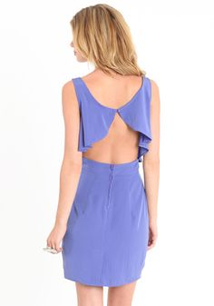 I See You Cut Out Dress In Periwinkle 38.00 at threadsence.com