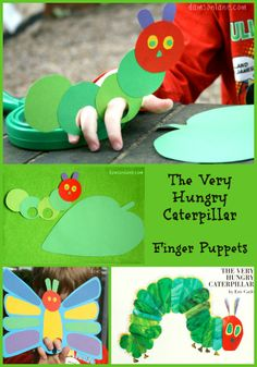 Very hungry Caterpillar Puppetry Drama Unit - Healthy Food Art The Very Hungry Caterpillar Activities, Fun Activities For Kids, Crafts For Kids, Art Activities, Kindergarten Language Arts, Story Sack, Art Lessons Elementary, Eric Carle, Camping Crafts
