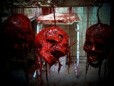 Asylum Halloween, Halloween Ideas, Blood Art, Haunted House Props, Skull And Bones, Scary Movies, Macabre, Dark Fantasy, Satan