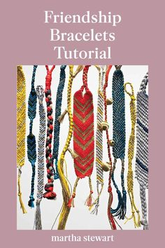 Revisit your childhood by making a grown-up version of a best friend bracelet that is stylish and full of memories. Follow our easy friendship bracelet tutorial as a handmade gift you can give to your friends. Plus, this blast from the past craft is a fun kid-friendly activity! #marthastewart #crafts #diyideas #easycrafts #tutorials #hobby Do It Yourself Jewelry, Do It Yourself Fashion, Friendship Bracelets Tutorial, Bracelet Tutorial, Unique Friendship Bracelets, Fun Crafts, Crafts For Kids, Arts And Crafts, Summer Crafts