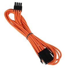 cool BitFenix 8 Pin EPS12v 45cm - Cable para fuente de alimentación, negro y naranja