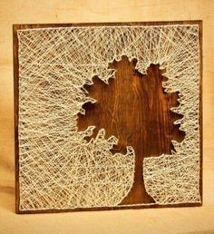bild nägel fäden herbstbaum - Google-Suche
