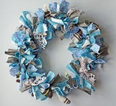 i d l e w i f e : DIY project: fabric scrap wreath