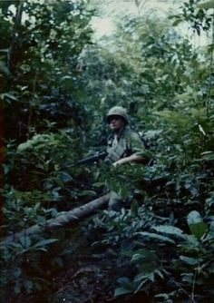 By Sp4 Chuck Colgan / John Podlaski A husky, blonde haired soldier rises from his air mattress, quickly shedding his nightly cocoon, a damp, green camouflaged poncho liner, from around his body.&nb…