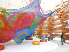 Wow!!! Woods of Net - a giant timber structure to house a net playground!