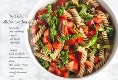 Mad & Søde Sager: Pastasalat med olie eddike dressing