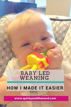 Baby led weaning can seem scary at first. I found a way to make it less nerve-wracking for me. Read about the trick and the benefits. http://quirkyandthenerd.com