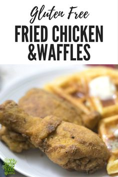 Gluten free fried chicken and waffles- only 3 ingredients for crispy, moist fried chicken and easy to make waffles, make it tonight! via @glutenfreemiami