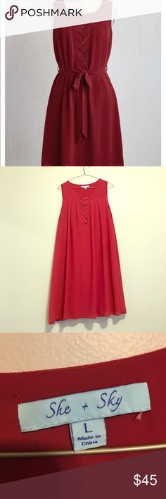 Bay front bliss dress in maroon Modcloth dress. Size large. Minimal wear. No longer have original belt, as I would wear with a wide belt. Modcloth Dresses