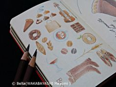 2014_02_14_brown_01_s for this drawing I used Faber castell polychromos Moleskine sketchbook  © Belta(WAKABAYASHI Mayumi )