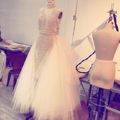 """""""Pearl and tulle dream! #christiansiriano"""""""