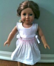"""Free Pattern: Smocked Apron for 18"""" Doll"""