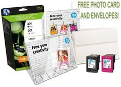 Free Photo Paper and envelopes with HP 301 Ink