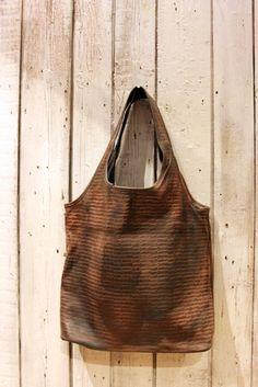 "Strange BAG"" Handmade Italian  Vintage Leather Tote di LaSellerieLimited su Etsy"