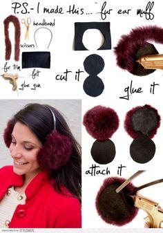 France Flag Facial Makeup Mask Screaming Cap Winter Earmuffs Ear Warmers Faux Fur Foldable Plush Outdoor Gift
