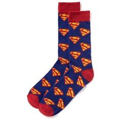 Old Navy Mens DC Comics Superman Socks ($6.94) ❤ liked on Polyvore featuring men's fashion, men's clothing, men's socks, mens superman socks, mens patterned socks and mens socks
