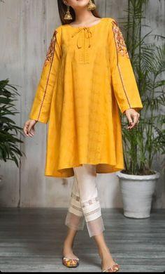 Pakistani Dress Design, Pakistani Dresses, Zardosi Embroidery, Designer Dresses, Tunic Tops, Pullover, Shirts, Women, Fashion