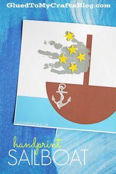 Handprint Sailboat Keepsake w/free printable template