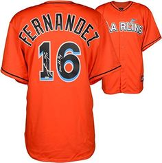 Jose Fernandez Miami Marlins Autographed Majestic Replica Orange Jersey  with 2013 NL ROY Inscription - Fanatics 50ee6eccb