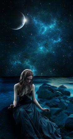 A Final Dream… – Mystical, Magical & Fantasy – Fotografie Fantasy Magic, Gothic Fantasy Art, Fantasy Kunst, Dream Fantasy, Moon Photography, Fantasy Photography, Beautiful Fantasy Art, Beautiful Moon, Lovely Girl Image