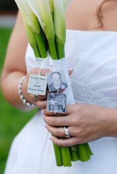 Bridal Bouquet Memorial Cha - Pendant - $156.00