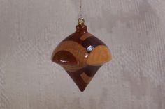 Turned Wood Ornament  20 by LCatDesigns on Etsy, $20.00 -- UNUSUAL CHRISTMAS ORNAMENT