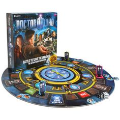 Fly the TARDIS. Save the Universe!  A fun collect & battle game for 2-6 players, ages 6+  Fly the TARDIS, collect pairs of enemy discs  Will your Weeping Angel beat your friend's Cyberman? // just found what I want for my birthday!!
